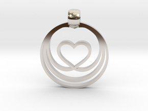 Waves of Love in Rhodium Plated Brass
