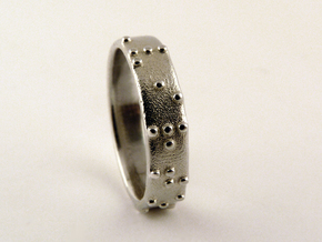Braille ring (Customized) in Polished Silver
