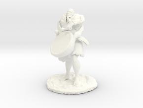Ourok, Half-Orc Bard in White Processed Versatile Plastic