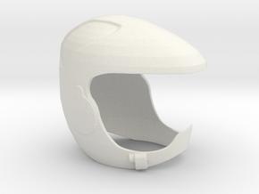 Viper Pilot Helmet (Battlestar Galactica TRS), 1/6 in White Strong & Flexible