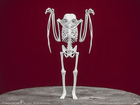 Mothman Skeleton in White Natural Versatile Plastic