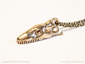 Loch Ness Skull Pendant in Natural Bronze
