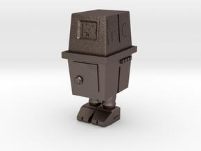 PRHI Star Wars Gonk Droid 25 mm scale in Polished Bronzed Silver Steel
