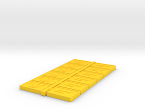 Cubits, Classic, Mixed (Battlestar Galactica), 1/6 in Yellow Processed Versatile Plastic
