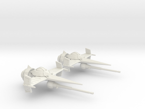 Swordfish II (30mm) in White Natural Versatile Plastic