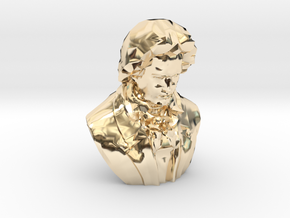 Beethoven Bust in 14k Gold Plated Brass: Extra Large