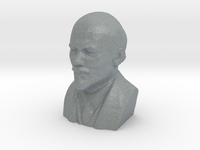 Lenin Bust in Polished Metallic Plastic: Extra Small