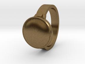 Dark Souls inspired ring in Natural Bronze