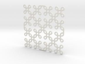 Arabeske in White Natural Versatile Plastic