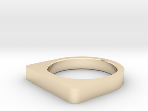 RING US 10.5, EU 62,75 (20,17 mm inner diameter) in 14k Gold Plated Brass