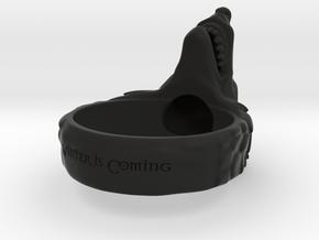 Direwolf ring Special Order 1.5 Diameter in Black Natural Versatile Plastic