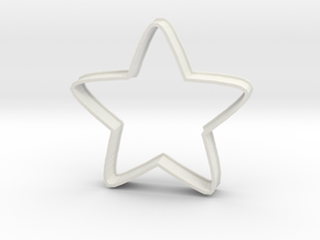 Cookie Cutestar in White Natural Versatile Plastic