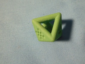 Unusual D8 (not twisted) in Green Processed Versatile Plastic