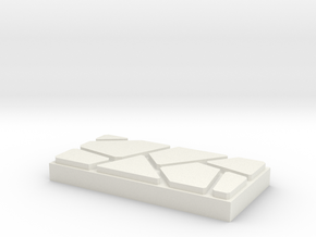 Dungeon Brix Floor Tile 1 X 2 V2 in White Strong & Flexible
