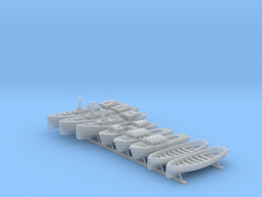 1/350 WW2 RN Boat Set 4 Without Mounts in Smooth Fine Detail Plastic