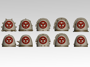 Lords of Decay Spiked Shoulder Pads x10 in Smooth Fine Detail Plastic