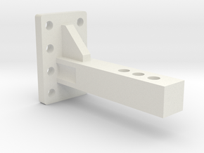 Traxxas TRX-4 & Axial SCX10II Pintle Hook Reciever in White Natural Versatile Plastic