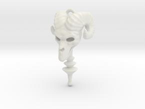 Skeletor's Staff Pendant in White Natural Versatile Plastic