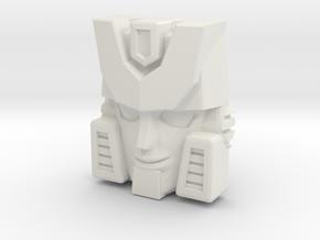 Hubcap Face (Titans Return) in White Natural Versatile Plastic