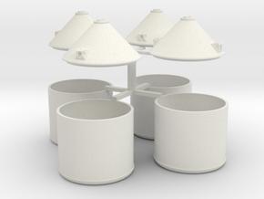 Soda Flescontainer in White Natural Versatile Plastic