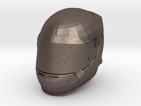 Helmet F1 1/8 in Polished Bronzed Silver Steel