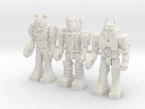Waruders at Attention, 3 35mm Minis in White Strong & Flexible