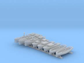 1/700 WW2 RN Boat Set 4 Without Mounts in Smoothest Fine Detail Plastic