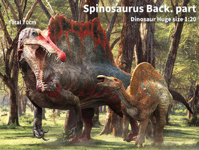 Spinosaurus Back.part (Total 70cm / 1:20) in White Strong & Flexible