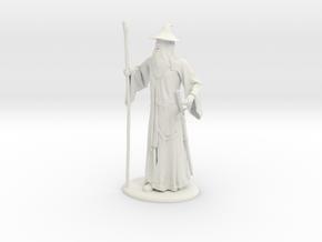 Gandalf Miniature in White Natural Versatile Plastic: 1:60.96