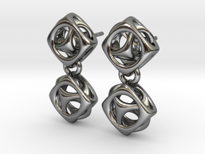 Esty Studs in Polished Silver (Interlocking Parts)