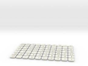 Keys in White Natural Versatile Plastic