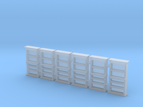 Bookcase 01. HO Scale (1:87) in Smooth Fine Detail Plastic
