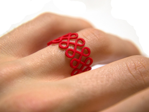 Eighty-Eight Ring in Red Strong & Flexible Polished
