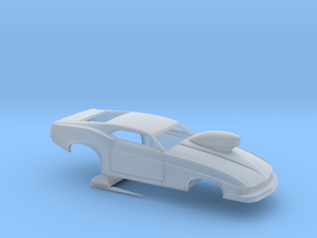 1/43 1970 Pro Mod Mustang With Scoop in Smooth Fine Detail Plastic