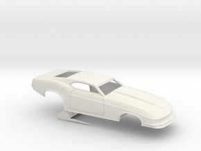 1/24 1970 Pro Mod Mustang No Scoop in White Natural Versatile Plastic