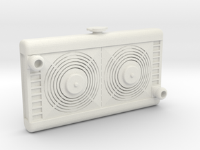 1/10 Scale Radiator With Fans in White Natural Versatile Plastic