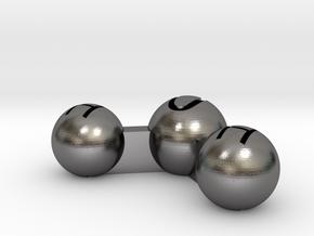 Water Atom Pendant Finding in Polished Nickel Steel
