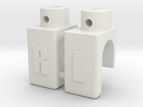 CRC Caster Adapters in White Natural Versatile Plastic