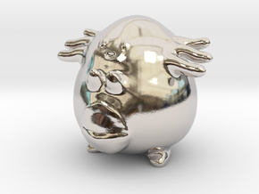 Chansey in Rhodium Plated Brass