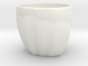 Ethiopia in a cup in Gloss White Porcelain
