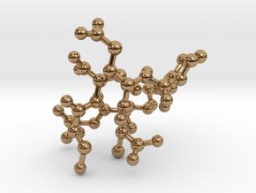 MASS SPEC Polypeptide Earrings in Polished Brass