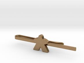 Meeple Tie Clip in Natural Brass: Medium