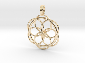 CONTACT ONE in 14k Gold Plated Brass