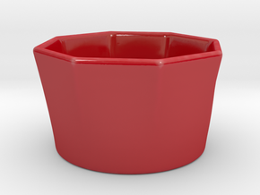 Stackable Autumn Soup Bowl in Gloss Red Porcelain