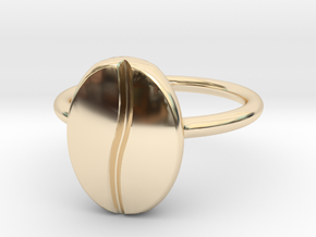 Coffee Bean Ring in 14K Yellow Gold