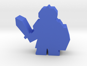Game Piece, Dwarven Warrior in Blue Processed Versatile Plastic