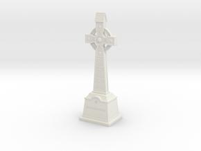 Gravestone miniatur celticcross7 in White Natural Versatile Plastic
