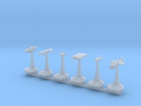 MicroFleet BSG Ragtag Fleet (6pcs) in Smooth Fine Detail Plastic