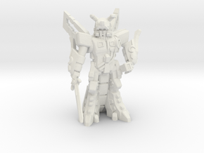 Waruder BlueStar, Battle Ready, 35mm Mini in White Natural Versatile Plastic: Medium
