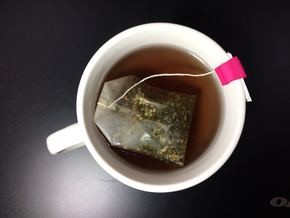 Tea Bag Holder C (Personalized with Embossed Text) in Pink Processed Versatile Plastic